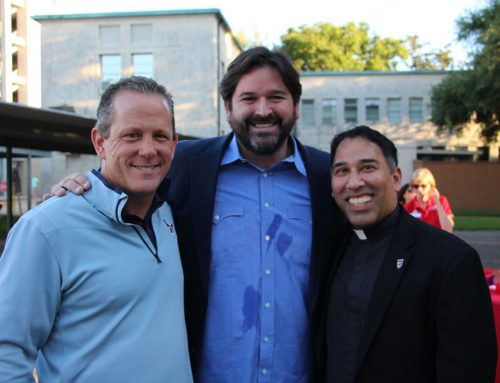Texans President Rootes and Celebrity-Chef Caswell '91 Embrace St. Thomas Mission