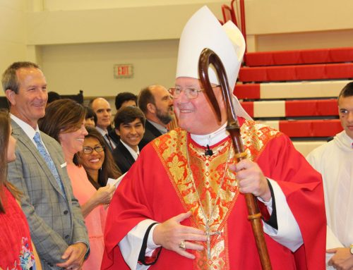 Charismatic Timothy Cardinal Dolan Brings Captivating Spirit to St. Thomas