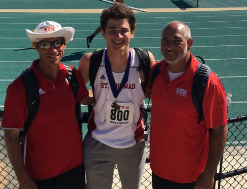 Matocha '19 State High Jump Champion to Lead Eagles at TAPPS Championships