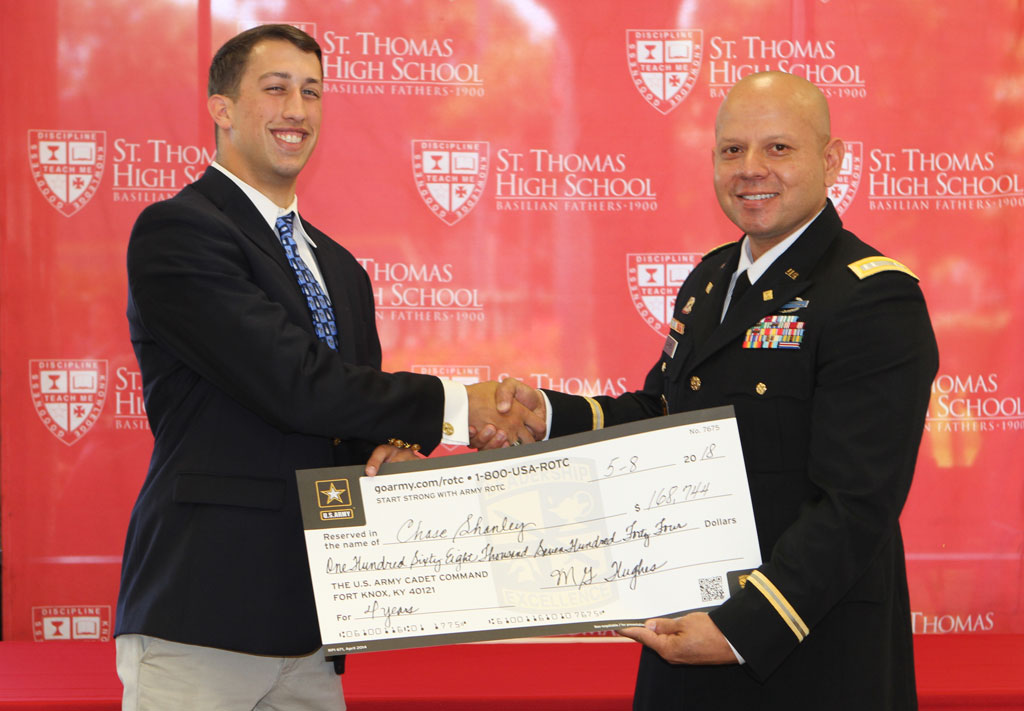 TBT Chase Shanley '18 Earns ROTC Scholarship to The Citadel to Lead