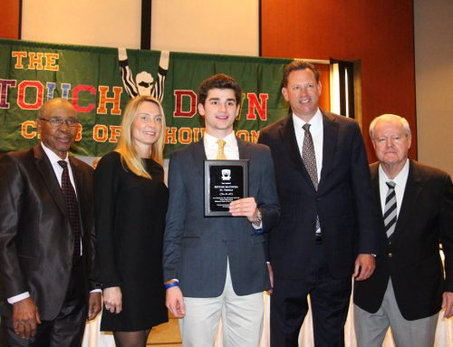 Matocha '19 Awarded Co-Offensive Player of the Year by Touchdown Club of Houston