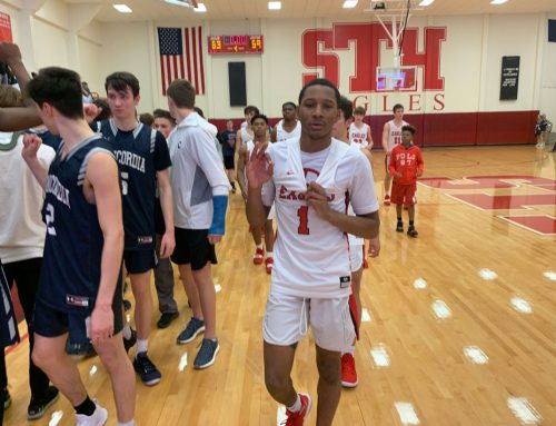 Eagle Basketball Takes Down State's No. 1 Private to Tighten District Race