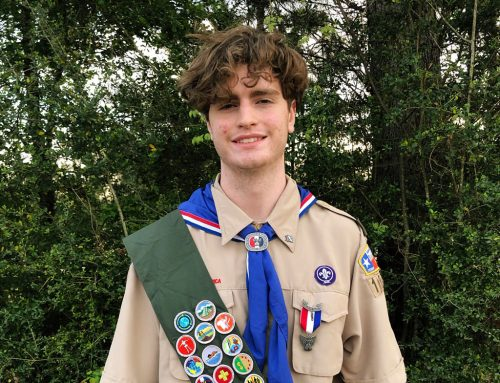 John Teague '19 Latest Eagle Scholar to Earn Prestigious Rank of Eagle Scout