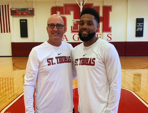 Eagle Basketball Head Coach Gary Hall Reconnects with Former Villanova Star Scottie Reynolds